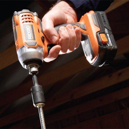 <b>Drive long screws</b></br> You can drive long screws because impact drivers generate a lot of torque.
