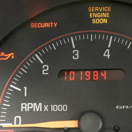 <b>Photo 1: Check the dash lights</b></br> System lights should come on, then turn off, when starting the engine.