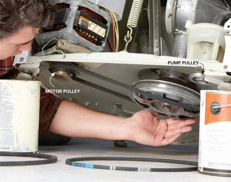 Washing Machine Repair How To Replace A Belt The Family