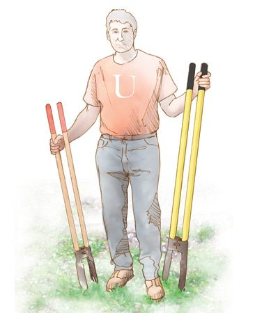 <b>Opt for easy digging</b></br> A small digger is usually easier to use than a large one.