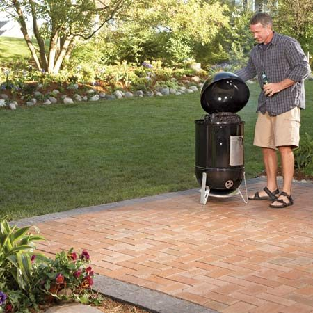<b>Patio after setting pavers</b></br> Pavers dress up the patio and make it an attractive outdoor living space.