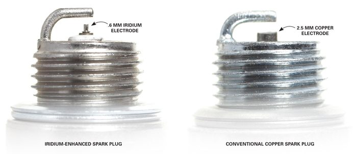 Iridium vs. conventional spark plugs