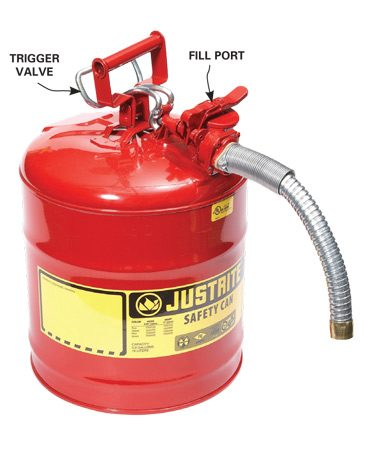 <b>A better gas can means less spillage</b></br> The trigger valve on this gas can gives you total control over the fill. There's a separate refill opening so you never have to remove the spout.
