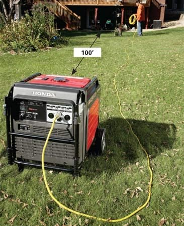 <b>Long cords let you get some sleep</b></br> Invest in some long extension cords to put some distance between you and the noisy generator. But don't exceed 100 ft. between the generator and appliances.