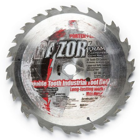 <b>Recycled blades</b></br> Don't toss your old blades. Stick one in your saw for demo work, cutting shingles and nail-embedded lumber, and cutting up exterior doors so they'll fit in the trash can.