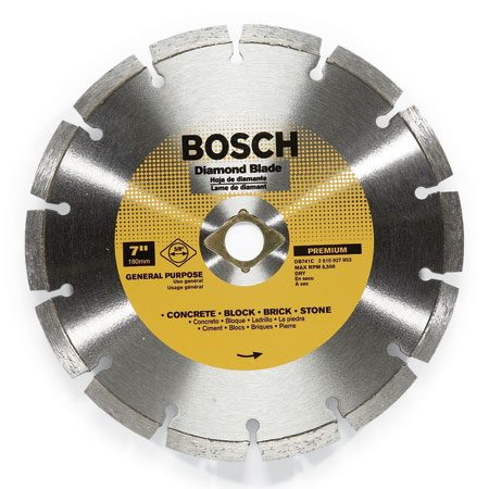 <b>Diamond blades</b><br/>You'll need these for cutting concrete, stone, pavers or any other masonry. Segmented blades will give you the fastest cut.