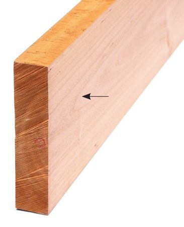 <b>Plane opposite side</b></br> Send it through the planer with the freshly jointed side down.