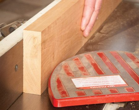 """<b>Photo 6: Joint either edge to the final width</b></br> <p>If the board is 1-1/2 in. or thicker,  you   can use the planer for this step. Or if   you have several thinner boards of the   same thickness, you can """"gang-plane""""   them all at once. Hold the boards   together as they enter and exit the   planer. Cut the boards to final length   and you're  ready to start your project! </p>"""