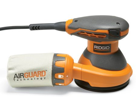<b>Five-inch sander</b><br/>Five-inch sanders are inexpensive and easy to control.