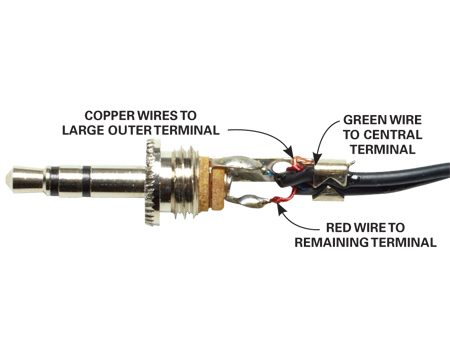 <b>Check the connections at the jack</b></br> Unscrew the plastic protective barrel and look for a broken wire. If you find one, resolder it.