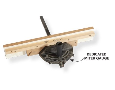 <b>Setting a miter gauge</b></br> Best tool for setting a miter gauge to 30, 45, 60 or 90 degrees? The plastic drafting triangles sold at office supply stores.