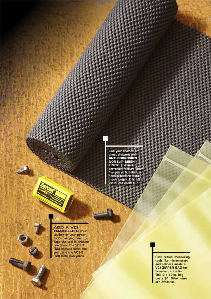 <b>Anti-corrosion nonslip mesh liner, VCI capsule and VCI zipper bag</b></br>