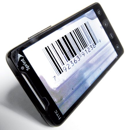 <b>Scan the bar code</b></br> Fill the frame with the bar code and center the red line through the center of the code. The phone will focus, shoot and pull up the Web site for instant shopping.