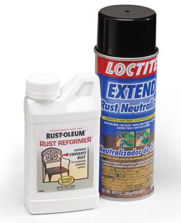 <b>Choose between liquid and spray converter</b></br> Rust converter comes in brushable liquid or aerosol spray. Spray provides a smoother finish but doesn't penetrate severe rust as well as brushable liquid.