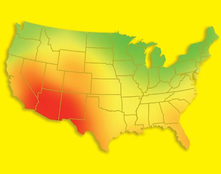 <b>Solar resource map</b></br> Get a quick snapshot of the solar potential of your area on this solar resource map.