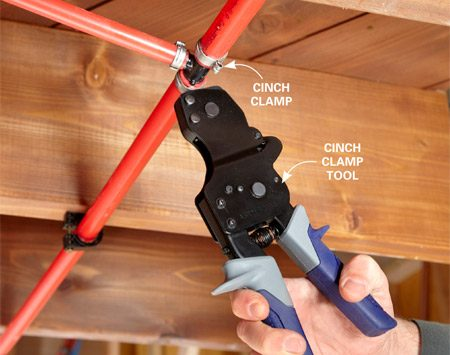 <b>Using a cinch clamp</b></br> Cinch clamp tools are simple to use and work for all sizes of pipe.