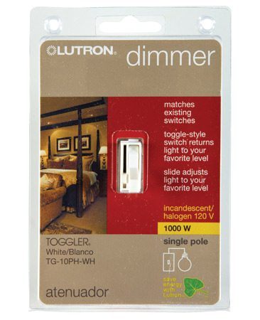 <b>Check the rating</b></br> Make sure the wattage rating on your new dimmer is at least as high as the old one.
