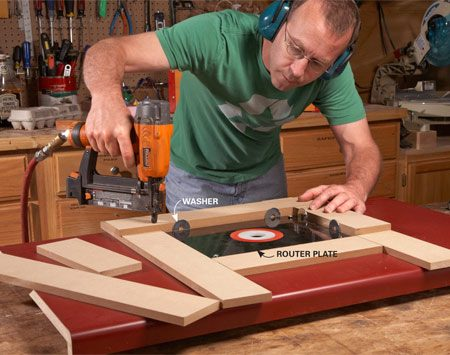 Build a router table by upcycling a kitchen countertop the family photo 1 build a guide for routing the plate opening greentooth Choice Image