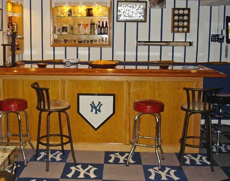 <b>Design details</b></br> Bats and baseball memorabilia decorate this shrine to the local baseball team.