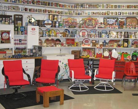 <b>Everything in one big room</b></br> Some man caves are workshops, some are bars, and some places are for sports and socializing. Gary Bickler's garage is all those things. And more.