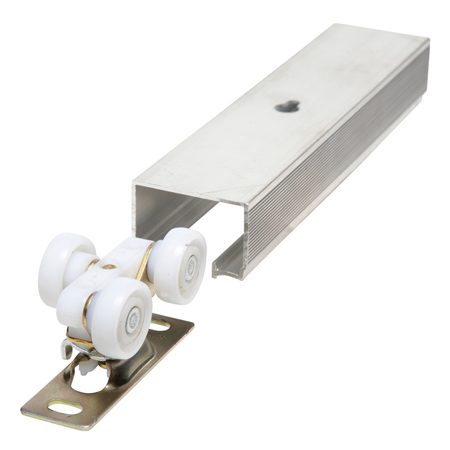 <b>Check this out!</b></br> This bypass door hardware is the key to smooth-gliding rollouts.