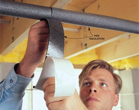 <b>Wrap pipes with insulation</b></br> <p>Insulating your  exposed hot water pipes reduces heat loss    and helps deliver  hotter water at a lower temperature setting.    Insulate all  accessible hot water pipes within 3 feet of your water heater    using quality pipe  insulation or a pipe sleeve.    Place the pipe  sleeve so the seam is face down on the pipe    and use aluminum  foil tape to secure the insulation to the pipe every foot or so.    On gas water  heaters, keep pipe insulation at least 6 inches from the flue. </p>