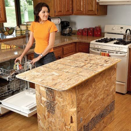 <b>Build a full-scale model to try it out</b></br> <p>If you want more counter  and storage space, then adding a center island   may be worth the cost. But  an island can limit the number of people   working in the kitchen,  reduce traffic flow to one-way with no passing,   and make for cramped  quarters. Try out an island before committing to one.    Slap together a full-scale  model out of cardboard or plywood and live    with it for a few days.  Make sure you can open your stove and   refrigerator doors. No  space for an island? Consider a kitchen trolley instead. </p>