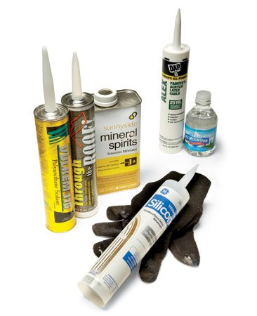 <b>Caulks and solvents</b><br/>Caulks are designed for different conditions at different parts of the house. Your results will be better if you use the right type.