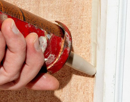 <b>Proper technique</b><br/><p>I always try to push the caulk    into the gap rather than drag    it over the gap. This greatly    increases the odds the caulk    will adhere to both surfaces    because it forces caulk into    the gap&mdash;pulling doesn&rsquo;t. One    exception to this rule is when    both surfaces are flush. When    caulking flush surfaces, if  you    try to push the tip too hard,  it    will skate all over the place,    and you&rsquo;ll have a big mess on    your  hands. </p>