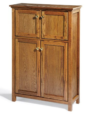 <b>Versatile storage cabinet</b></br> This is my favorite cabinet furniture project because it's so versatile. Use it to store books, small appliances, games and more. Assembly is amazingly fast and easy when you use a brad nailer and glue.