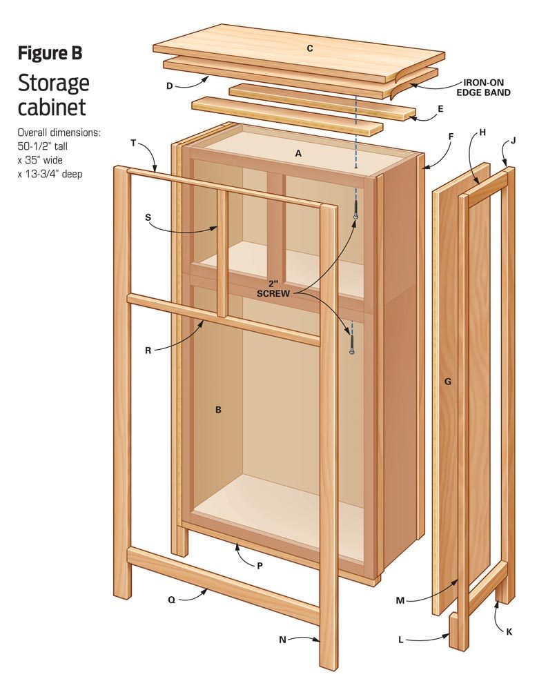 DIY furniture: Storage cabinet