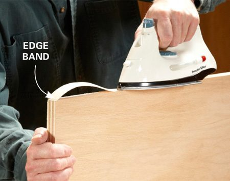 DIY furniture trick: Use edge banding for the look of solid wood.