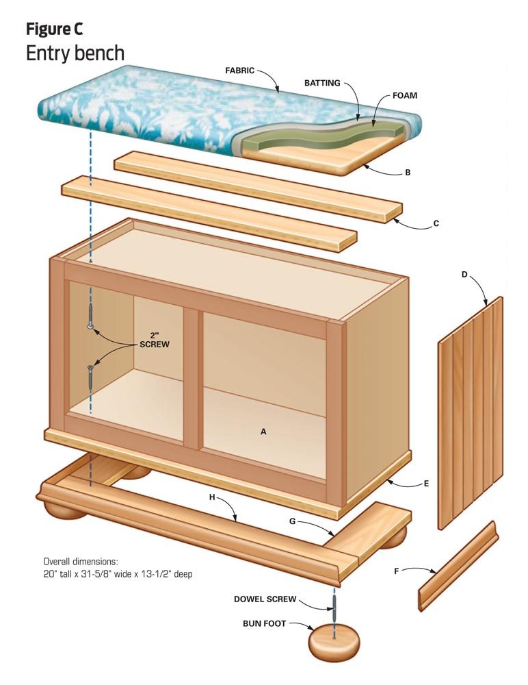 DIY furniture: Entry bench