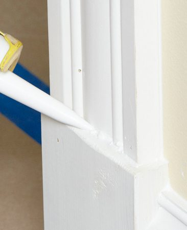 <b>Hide movement cracks</b><br/><p>Rather than trying to decide  which    cracks are large enough to  require    caulk, just caulk everything.  It&rsquo;s actually    faster because you don&rsquo;t have  to    waste time deciding what to  caulk    and because you&rsquo;re not  constantly    starting and stopping. Caulk  every    intersection between moldings  and    between moldings and walls or  ceilings.    You&rsquo;ll be amazed at how much    better the final paint job  looks when    there  are no dark cracks showing. </p>