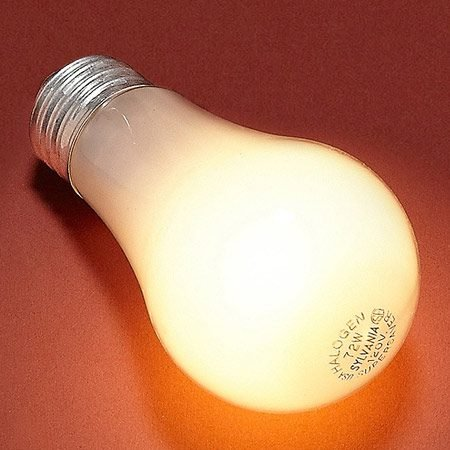<b>Halogen incandescent</b></br> Similar to standard incandescents, except that they burn hotter and produce a whiter light.