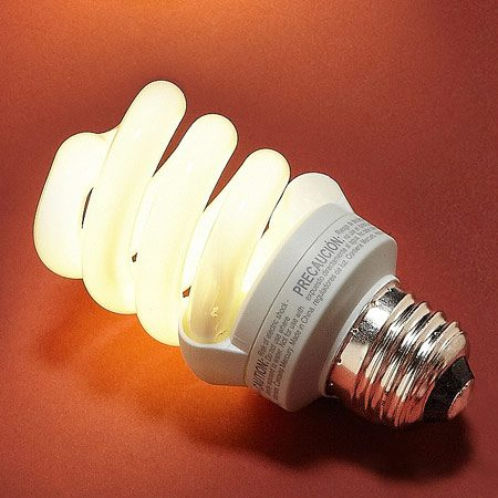 <b>EcoSmart soft white 14-watt (60-watt equivalent) CFL</b></br> <p>Rated one of the best by reviewers;   bright, good quality for reading and   shining through lampshades; and a   good CFL choice for fixtures that   are turned on and off frequently.   Most EcoSmart spirals are small   enough to fit in most lamps. Lasts   10,000 hours. The downside is it   brightens gradually and is not   dimmable. About $8 for four at The Home   Depot. </p>