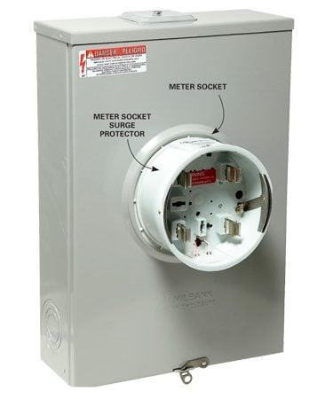 Meter socket surge protector