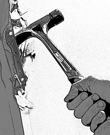 <b>Wrecking tool</b></br> Ripping hammers are great for tearing down drywall, especially long-handled framing models.