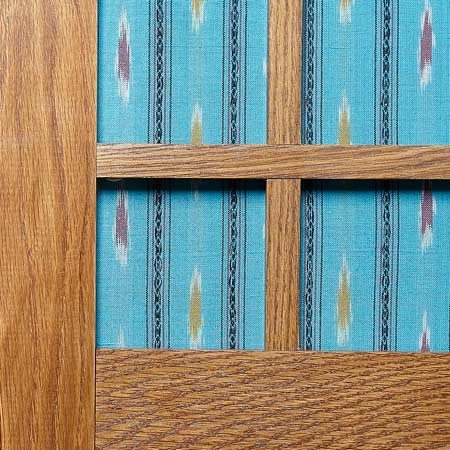 Fabric on panels