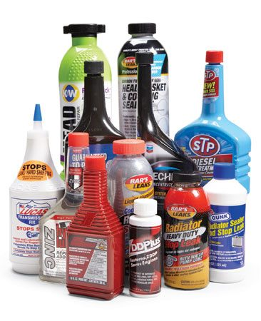 <b>Common fuel additives</b></br> Many additives, including fuel additives, will help solve specific car problems.