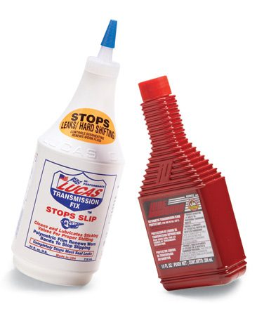 <b>Transmission additives for older vehicles</b></br> To extend the life of an older but fully functional transmission, pour in a bottle of transmission fluid conditioner.