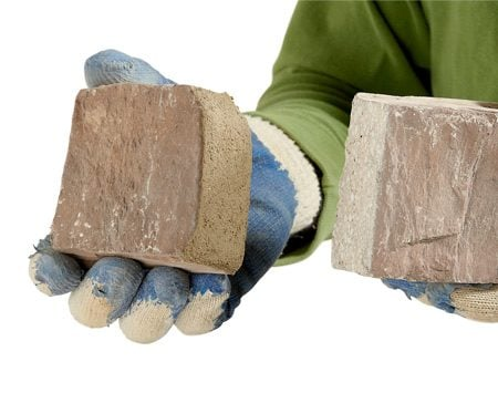 <b>Hide cut ends of veneer stone</b></br> Hide sharp end cuts by cutting angles, chipping or coating the end with mortar.