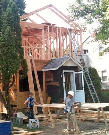 <b>Remodeling his home</b></br> Patrick reworked his entire house, from the ground up, and put on an addition.