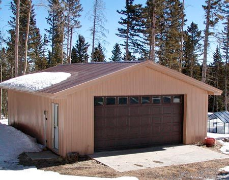 <b>Steel storage shed project</b></br> He and his family and neighbors built the entire shed, including electrical.