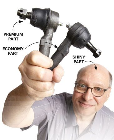 <b>Premium/economy part comparison</b></br> Economy parts are lighter duty and might not hold up long.