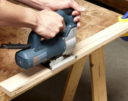 <b>Photo 6: Cut the arches</b></br> <p>For a smooth cut, use a  fine-tooth blade and move   slowly, putting only light  forward pressure on the saw. If your   saw is variable speed, cut at  full speed. If the saw has orbital   action,  switch it off. </p>