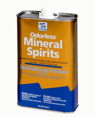 <b>Mineral spirits</b></br> Mineral spirits is more highly refined and has fewer odors than paint thinner.