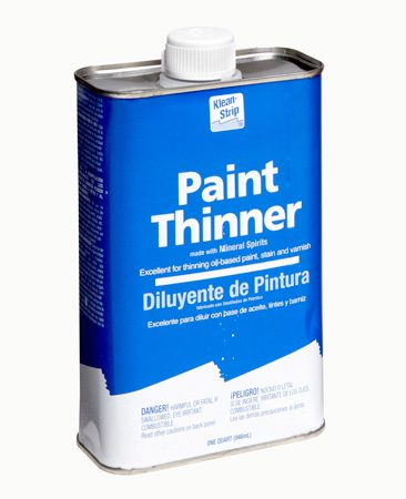 <b>Paint thinner</b></br> Paint thinner is mineral spirits in a less refined form.
