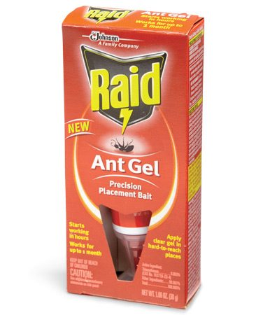 <b>Ant control</b></br> <p><a href='http://www.amazon.com/gp/product/B006QYTDSO/ref=as_li_qf_sp_asin_il_tl?ie=UTF8&tag=familhandy-20&linkCode=as2&camp=1789&creative=9325&creativeASIN=B006QYTDSO' rel='nofollow' target='_blank'>Chemical ant baits</a> are most effective for grease-eating and sweet-eating ant species. The key is to allow the ants to eat the bait and take it back to kill the entire colony, which may take several weeks. Gel ant baits let you apply bait in hard-to-reach areas such as behind appliances and in cracks and crevices (keep all chemical baits away from pets and kids).</p>