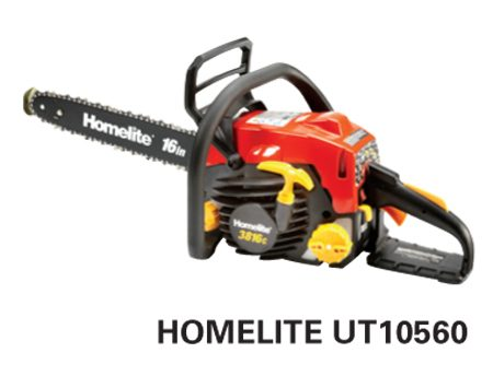 <b>Homelite UT10560</b></br> <p>Engine size: 38 cc<br />   Bar length: 16 in.<br />   Price: about $139</p>